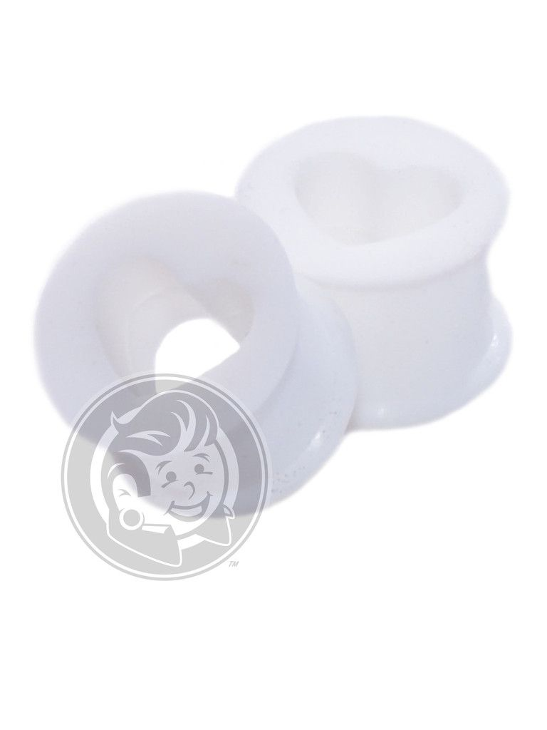 White Silicone Hearts   Plug Your Holes - Your Lifestyle, Since 2006.