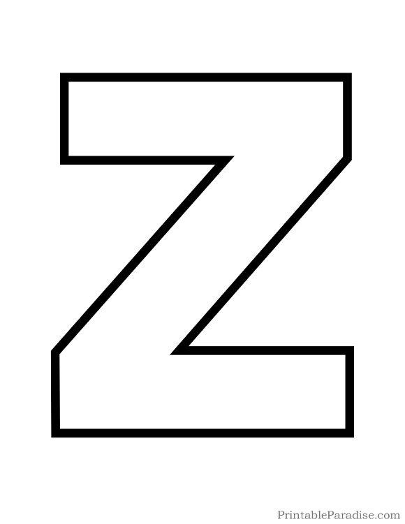 Printable Letter Z Outline - Print Bubble Letter Z Preschool