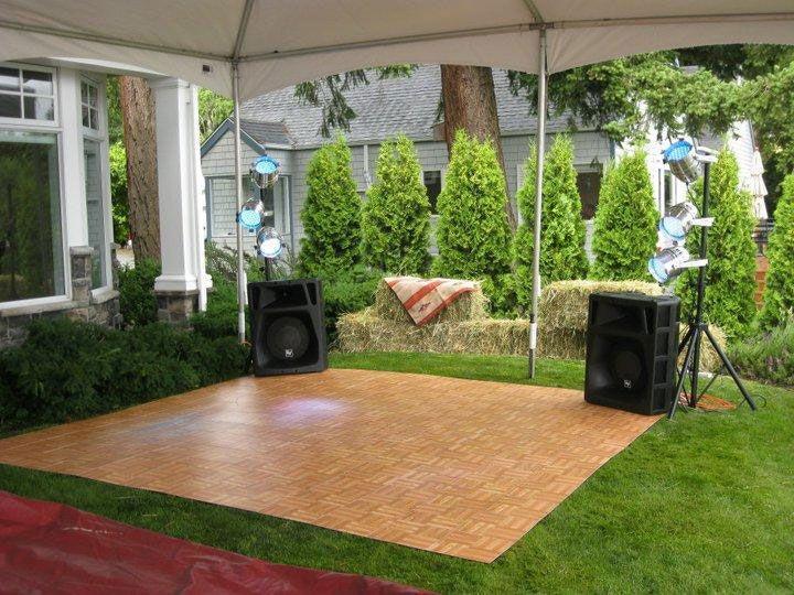 Oak Portable Dance Floor On Gr