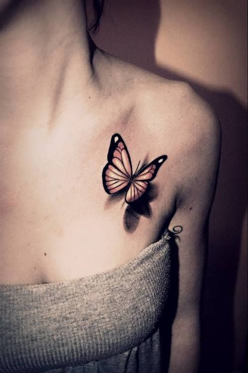 Gallery For Butterfly Tattoo On Collarbone Tattoos Butterfly Tattoos For Women Picture Tattoos