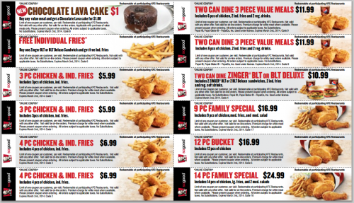 kentucky fried chicken coupons printable