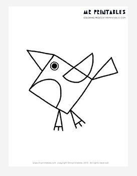 Robin Coloring Page - This printable coloring page is simple, cute, and so delightfully fun!