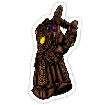 Infinity Gauntlet Snap Infinity War Reference Sticker By Jkwartwork In 2021 Marvel Tattoos Infinity Snaps