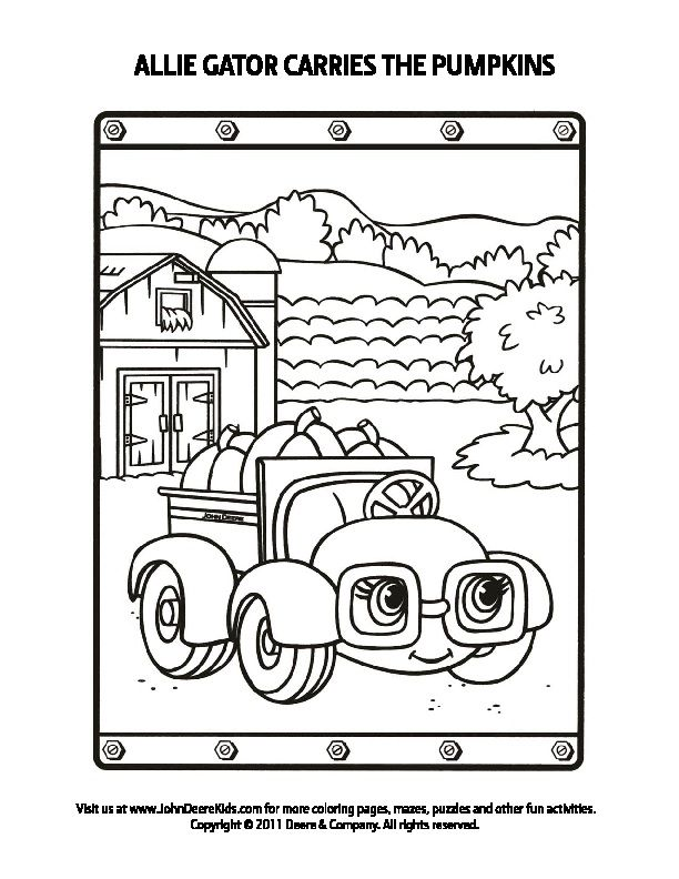 john deere gator coloring pages