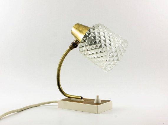 1960s Table Desk Lamp Minimalist Golden Metal by OldishButGoldish