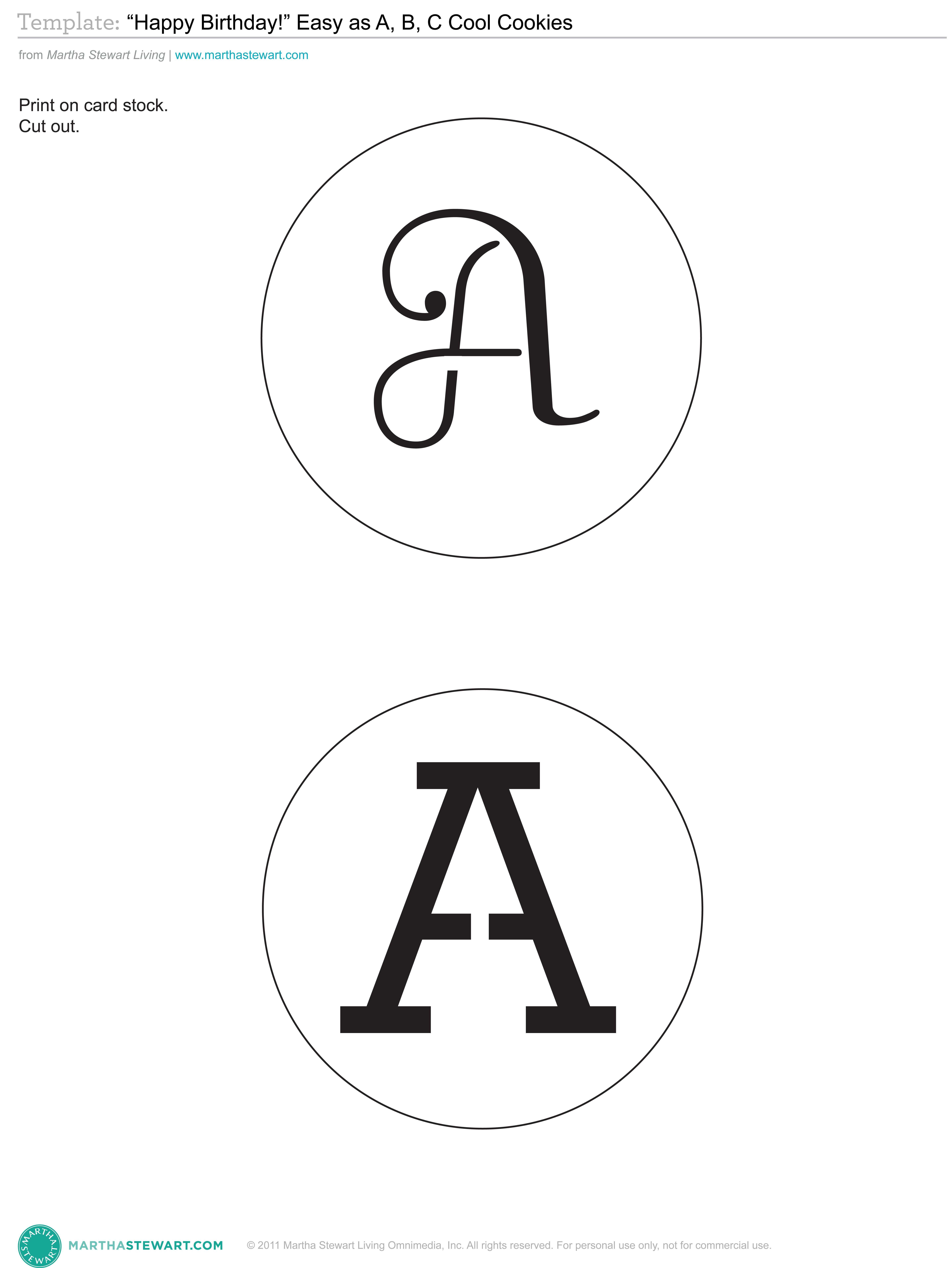 A z alphabet stencil template or graphics from martha stewart a z alphabet stencil template or graphics from martha stewart http spiritdancerdesigns Image collections
