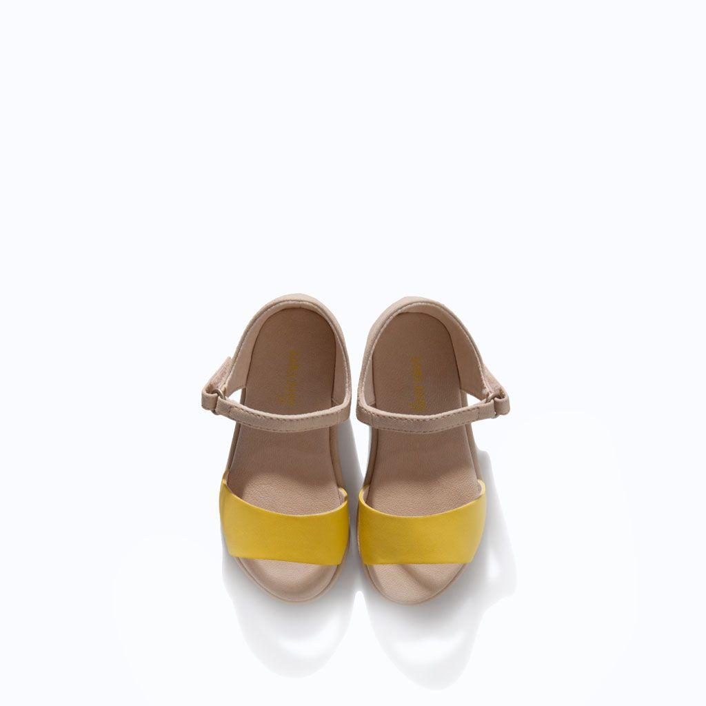 3dc4c00536e zara baby girl lemon sandals