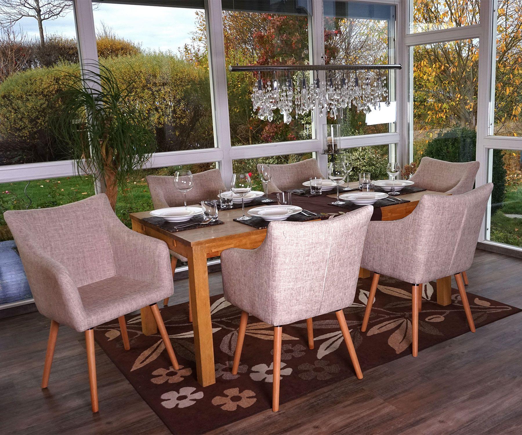 6x Esszimmerstuhl Malma T382 Stuhl Ka Chenstuhl Retro 50er Jahre Design Textil Creme Grau Stuhl Kunstleder Design Stuhle