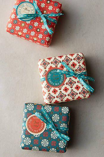 Winter Blossom Bar Soap packaging #soappackaging