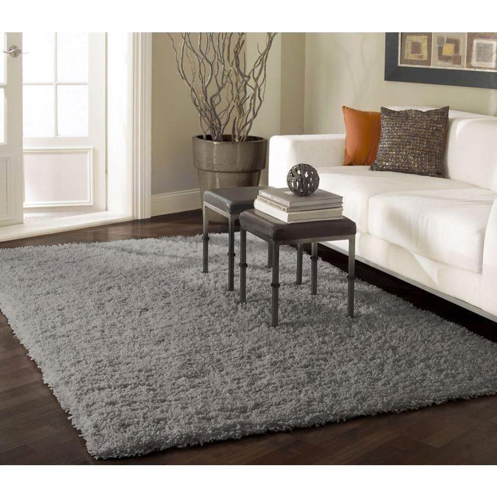 Nuloom Shag Grey 8 Ft X 10 Ft Area Rug Ozsg02g 8010 The Home