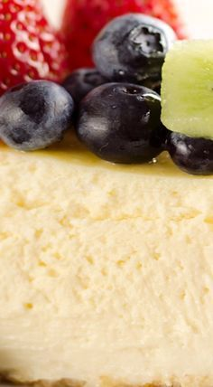Creamy New York Cheesecake with Fresh Fruit