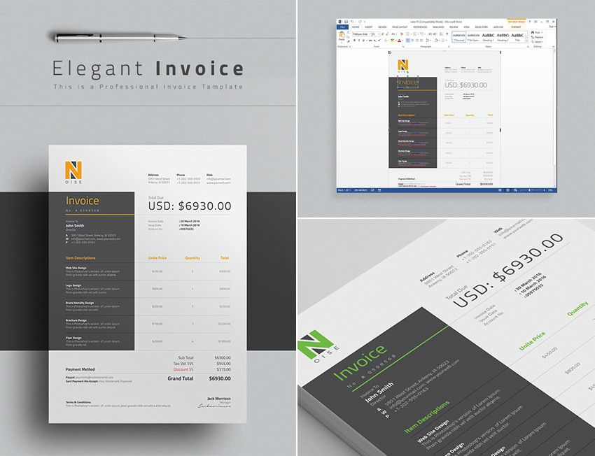 15 Simple Invoice Templates Made For Microsoft Word Small and - sample resume for business owner