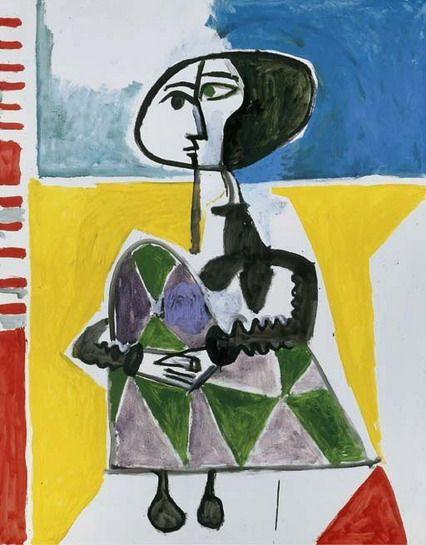 Pablo Picasso. Jacqueline accroupie 2. 1954 year