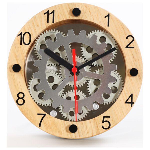 Wooden Moving Gear Clock Gear Wall Clock Contemporary Wall Clock Clock Decor