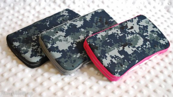 US Navy Cami Travel Diaper Wipe Case with Ribbon by JKuddleBug, $10.00