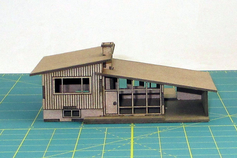 Split level mid mod house model 100 a n scale model for Split level kit homes