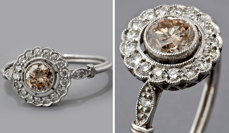 cc3ea7ac721 14 anéis de noivado com diamante cognac para você se inspirar