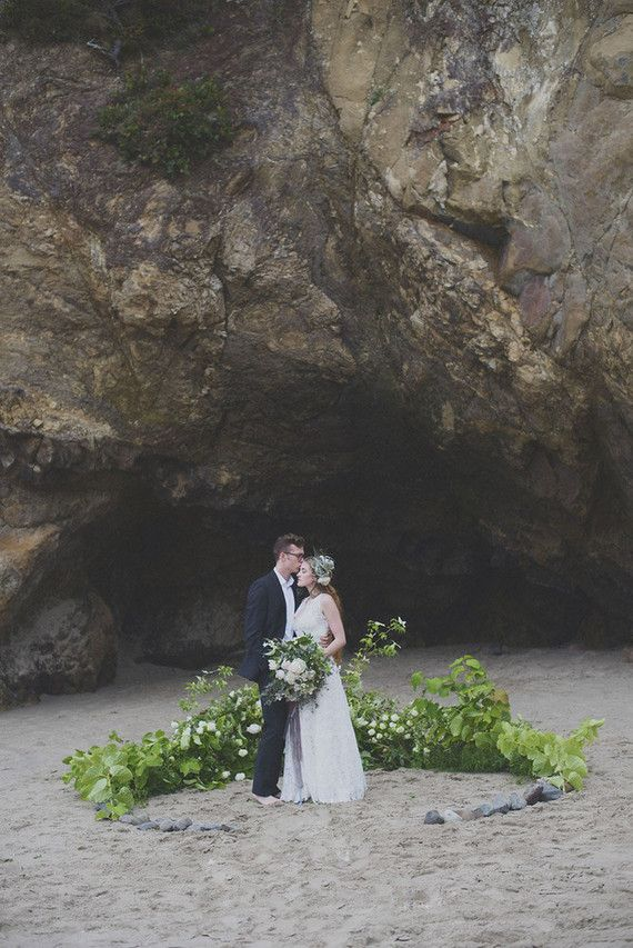 Simple Ceremony Site Oregon Beach Wedding