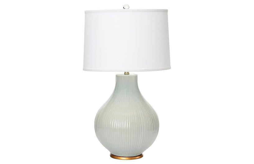 Santa Barbara Table Lamp Pale Blue Burke Oates In 2021 Lamp Gourd Lamp Table Lamp