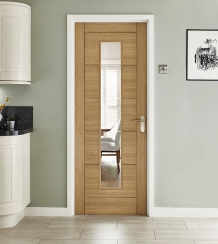 Linear Oak glazed door & Linear Oak glazed door   Internal hardwood doors   Doors \u0026 joinery ...