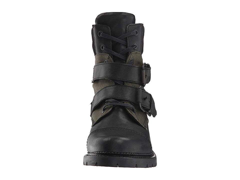 24a0a9f7a0e Frye Samantha Belted Hiker Women's Shoes Black Multi Tumbled Full ...