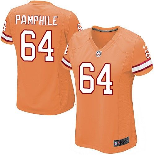 a11cadc82 Nike Limited Kevin Pamphile Orange Women s Jersey - Tampa Bay Buccaneers   64 NFL Alternate