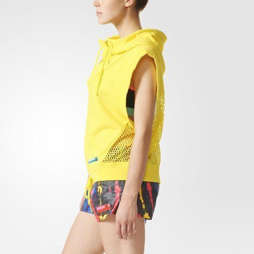 adidas STELLASPORT Tank Hoodie - Yellow | adidas US