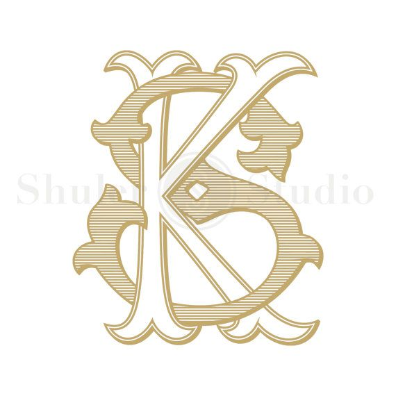 ks monogram sk monogram custom wedding monogram by shulerstudio pinteres. Black Bedroom Furniture Sets. Home Design Ideas