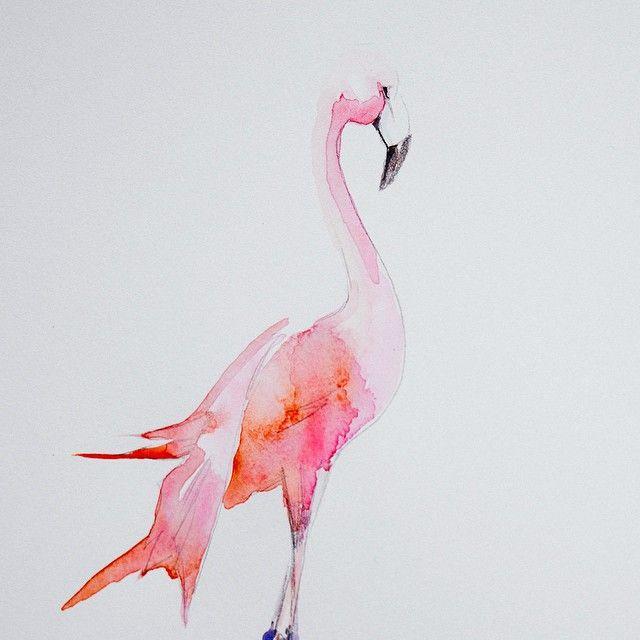 Monsieur Flamingo est sur le blog  Aquarelle. Suivez mon instagram en cliquant sur l'image, Vanessa Pouzet. Follow me on Instagram !