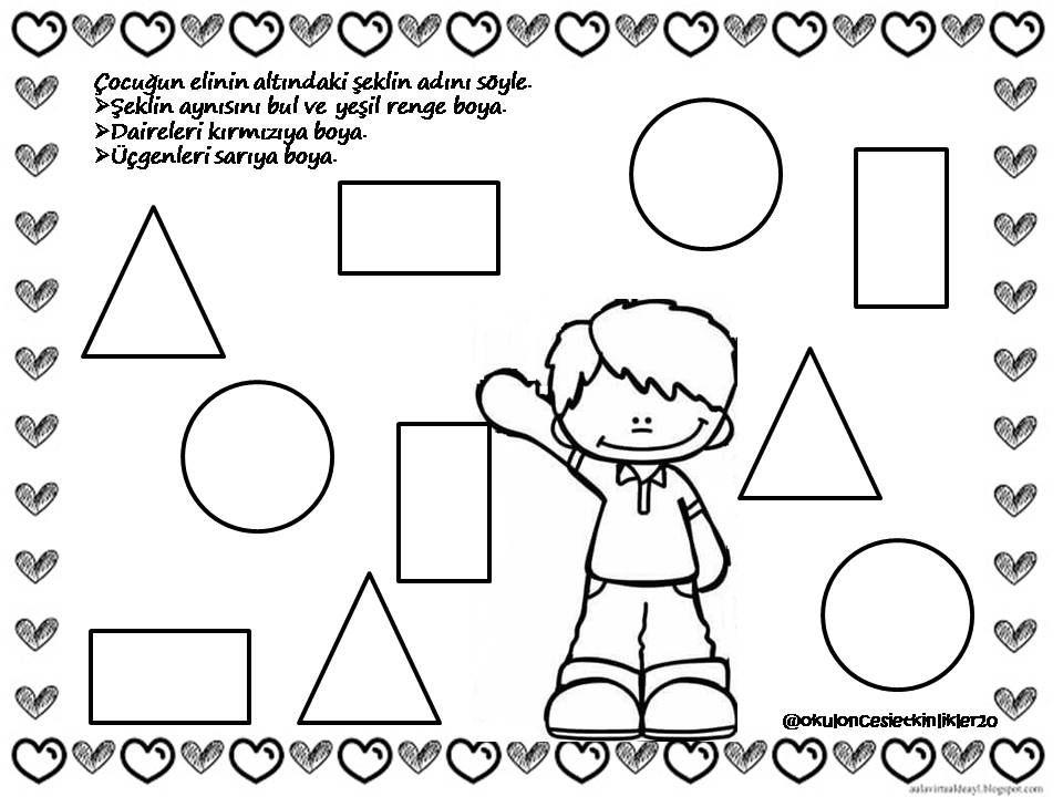 Pin de Firdevs en Çocuklar | Pinterest | Figuras geometricas, Forma ...