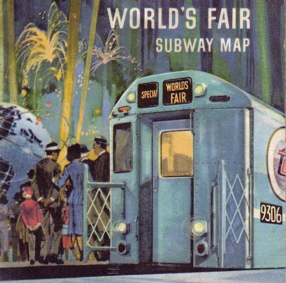Worlds Fair Subway map   Flushing Meadows Corona Park ...