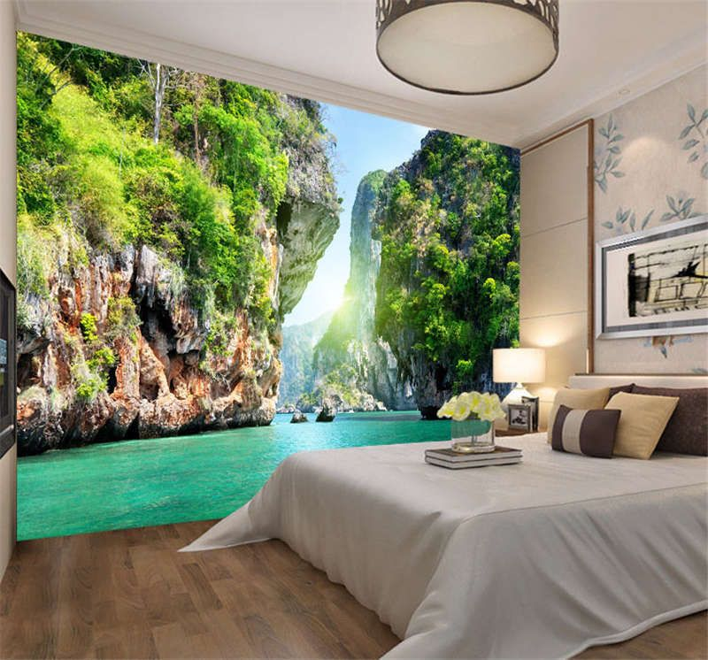 Details About Lake Nature Landscapes Full Wall Mural Photo Wallpaper Print Kids Home 3d Decal