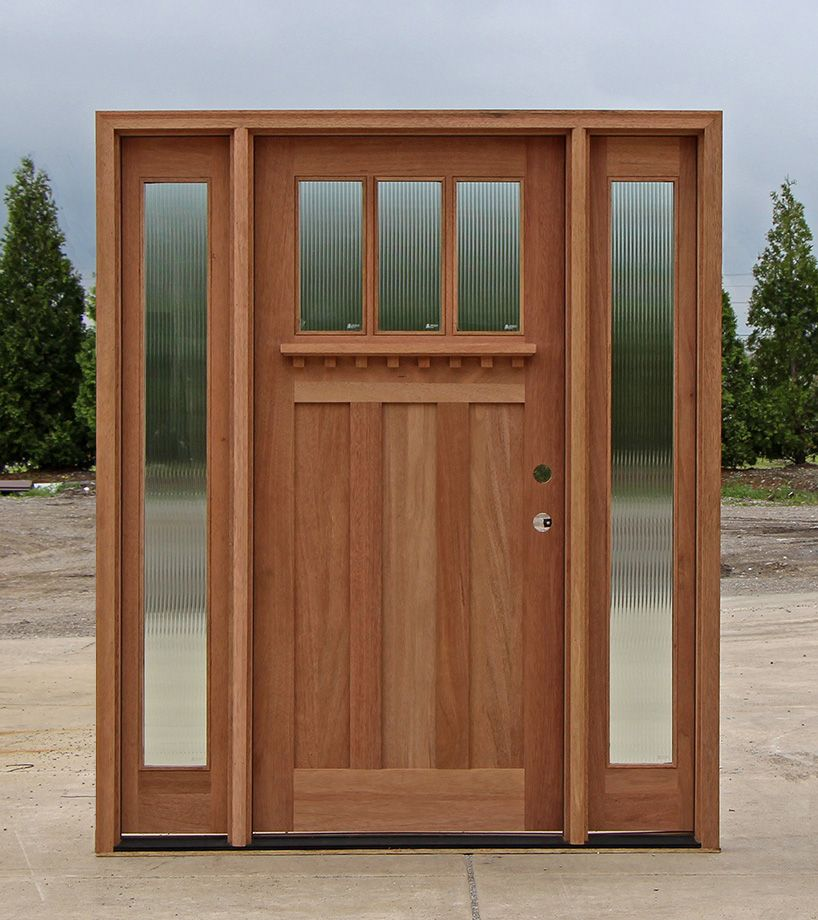 Beautiful Ideas Craftsman Front Door With Sidelights Extraordinary Design  Craftsman Style Doors And Sidelights Part 44