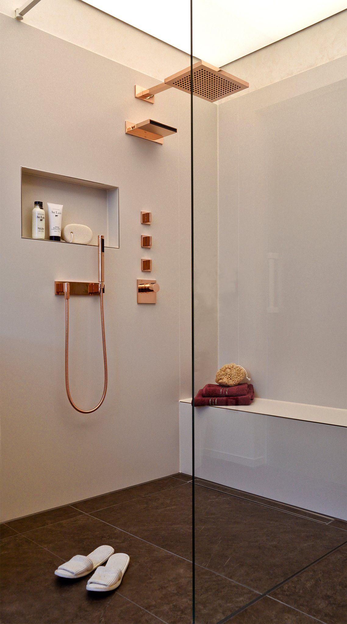 Walk In Duschen In Top Design 15 Beispiele Die Beeindrucken Walk In Dusche Wandnischen Badezimmer