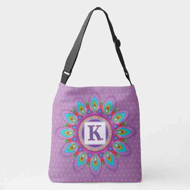 Photo of Custom large cross body tote bag psychedelic | Zazzle.com