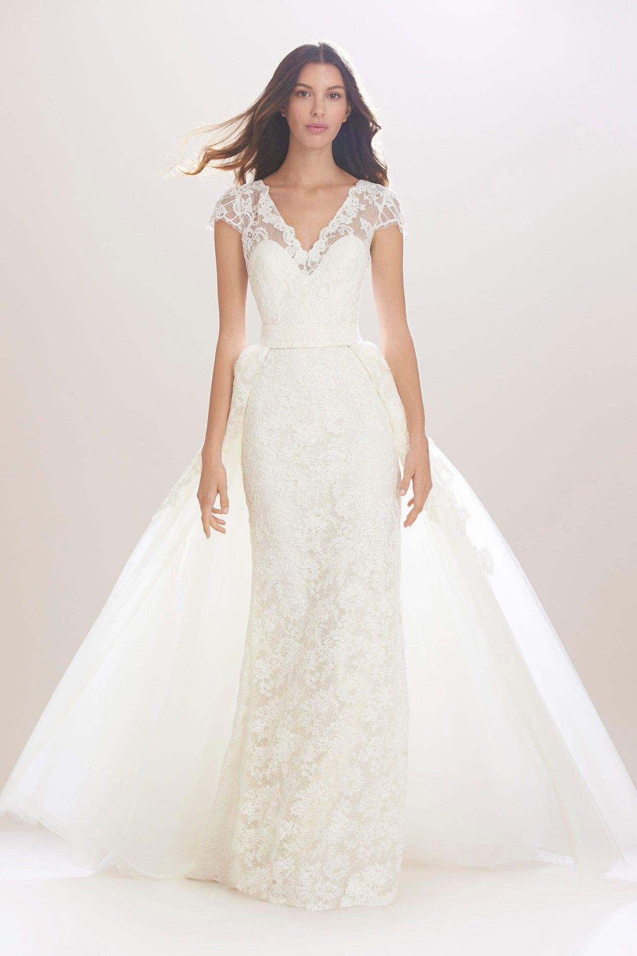 pretty perfect overskirt wedding dresses carolina herrera