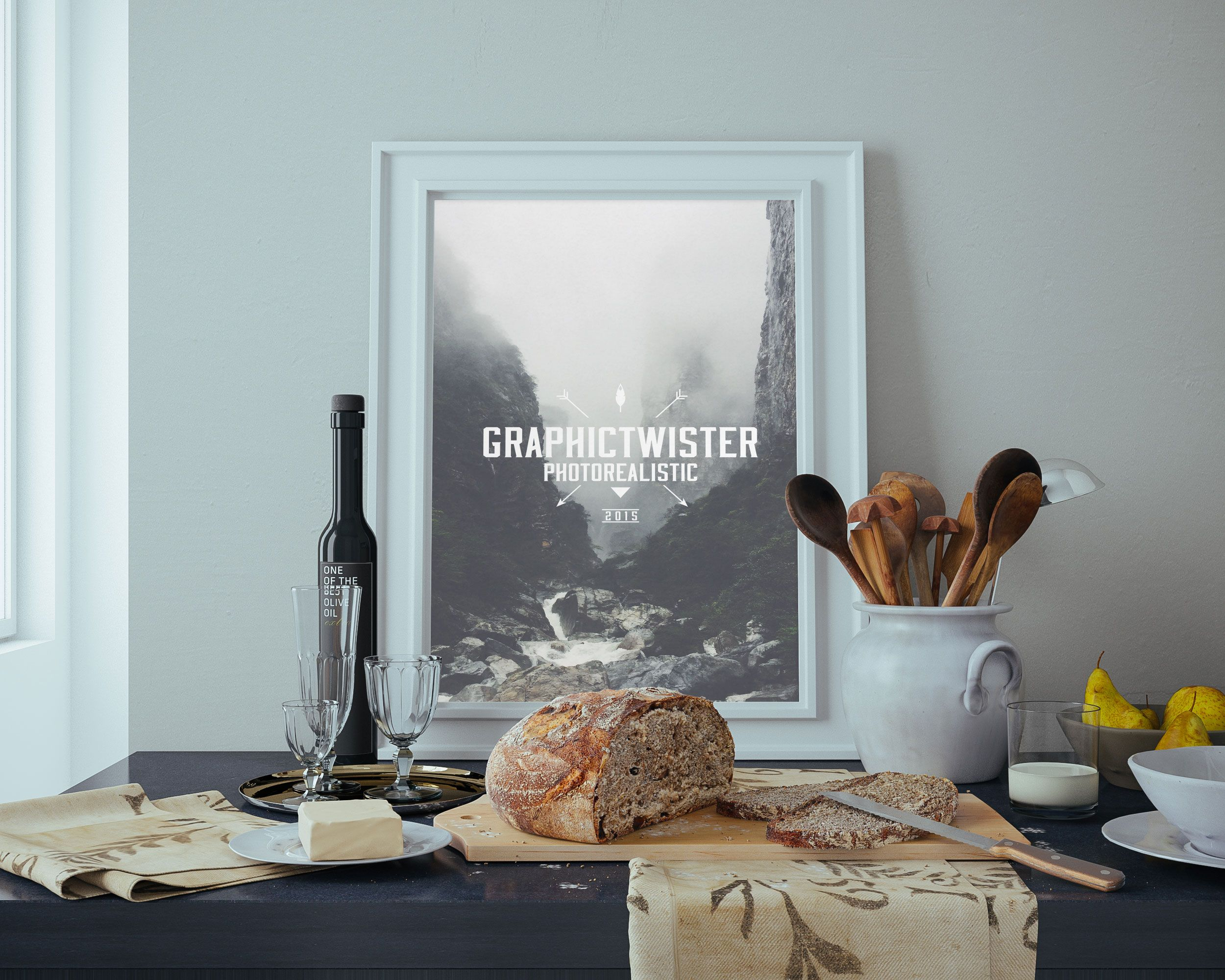 Design your poster free - Mockup In The Kitchen Premium And Free Psd Resources