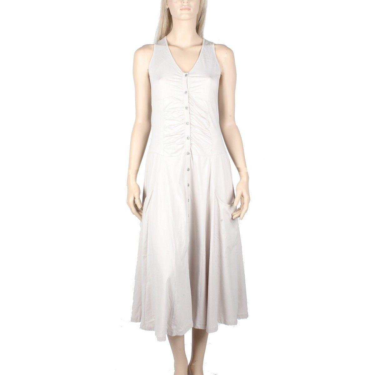 5445ffa6384 Robe femme de la marque maloka Maloka en coton couleur sable modèle nuvem