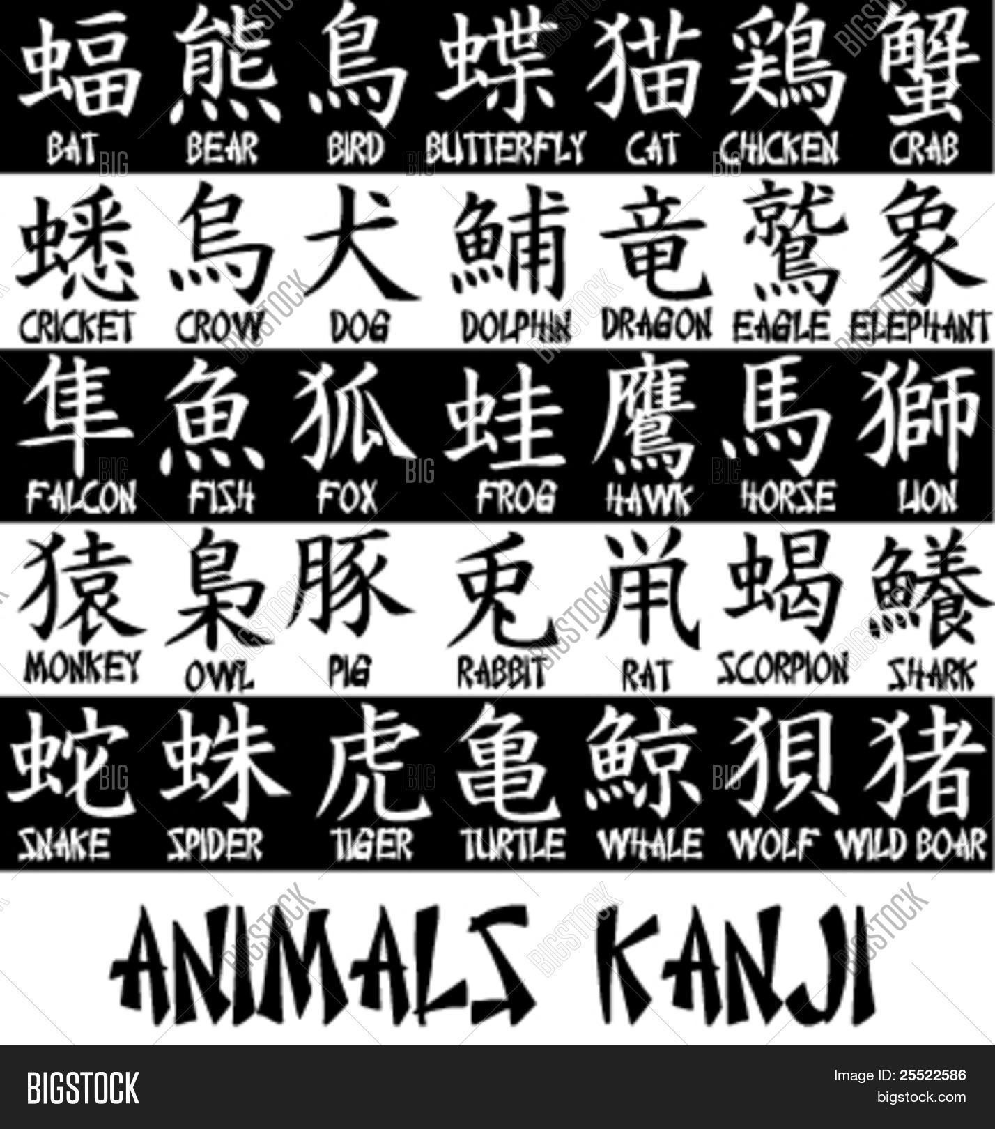 Japanese kanji for animal names japanesetips cricut designs japanese kanji for animal names japanesetips biocorpaavc