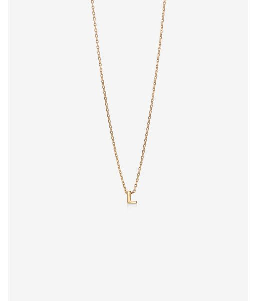 69ad8197bb48 Gold Mini L Initial Necklace Women's Gold | Products | Initial ...