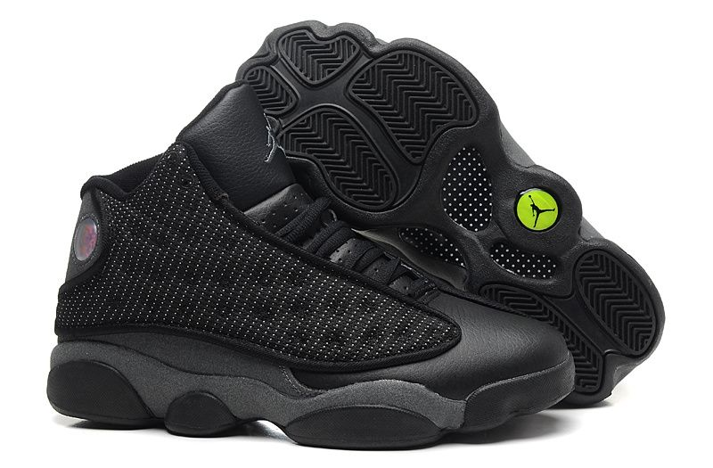 2014 new 310004 132 Air Jordan 13 retro leather black shoes for mens