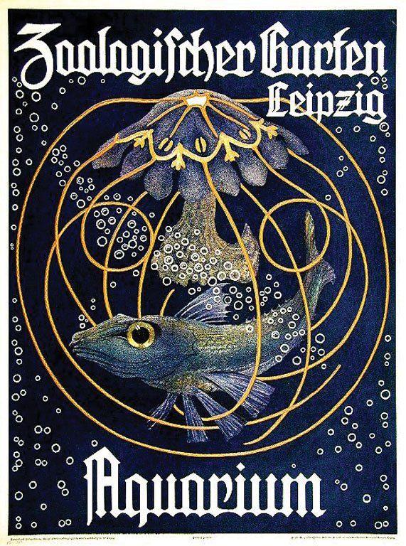 Max Seliger Artwork For Zoo Leipzig Aquarium 1910 Leipzig Zoo Leipzig Bilder