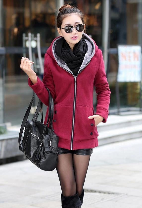 Plus Size Champion Sherpa-Lined Fleece Jacket | Outerwear ...