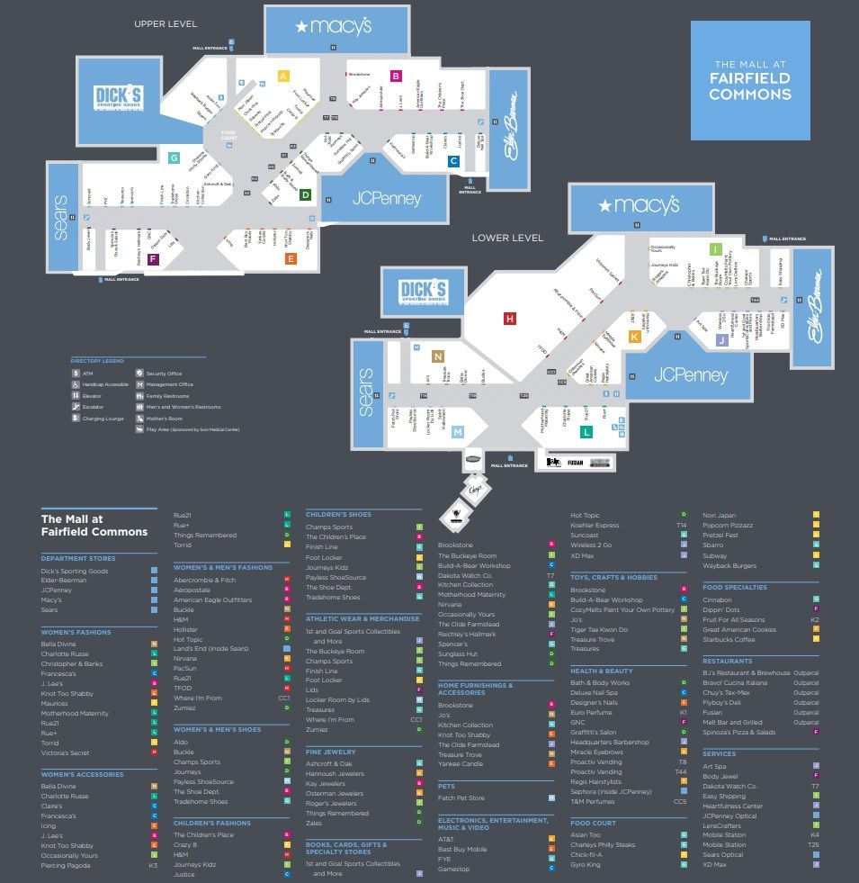 Mall at Fairfield Commons shopping plan