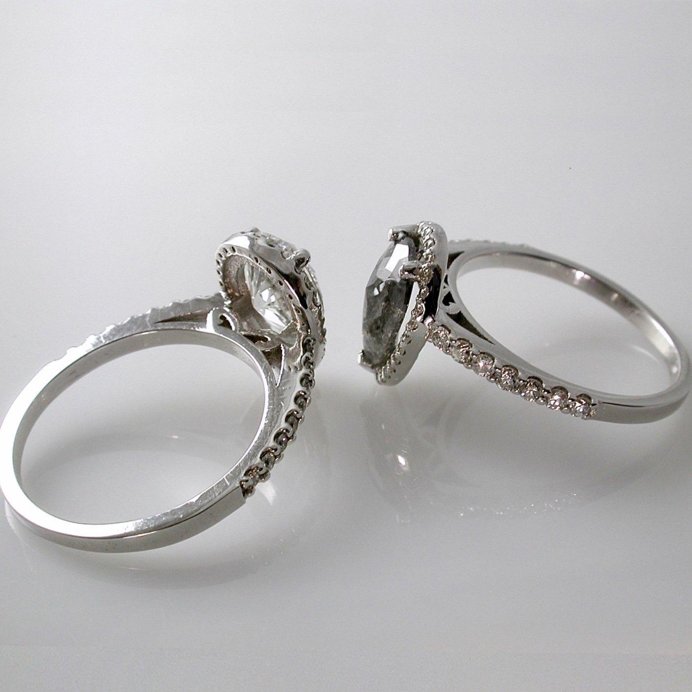 Ring · Grey Diamond Engagement