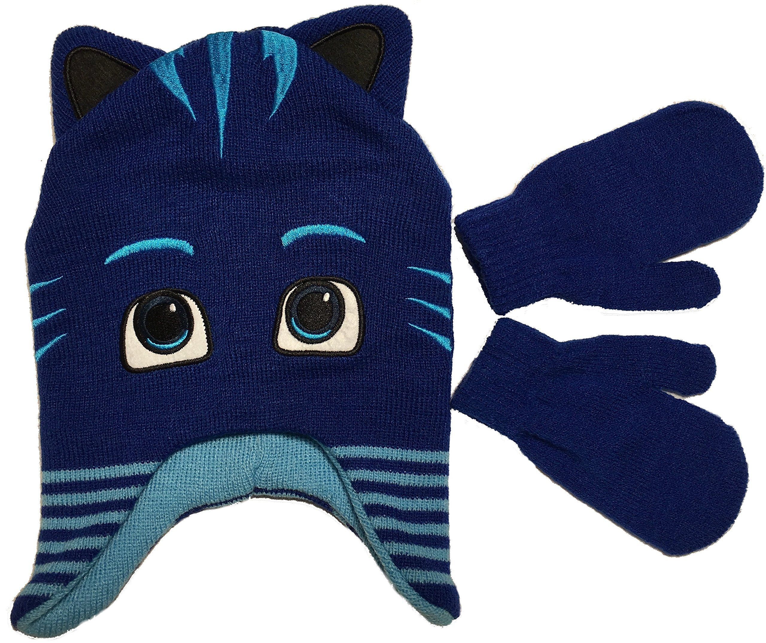 Paw Patrol Knitted Blue Navy Winter Hat /& Gloves Set Toddlers Boys One Size