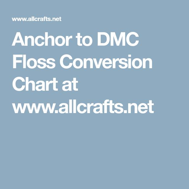 Floss Conversion Chart Solidaphikworks
