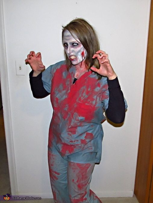 a52bd8f04ccaa Homemade Zombie Costume Ideas for Women | Zombie Nurse - Homemade costumes  for women