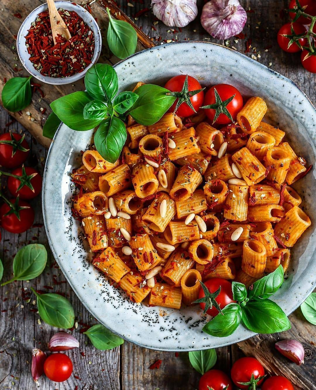 Vegan Recipes On Instagram Mezzi Rigatoni Tomato Pasta