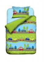 Kinderbettwäsche 100x135 Bettwäsche Auto Jungen Automotiv Baumwolle